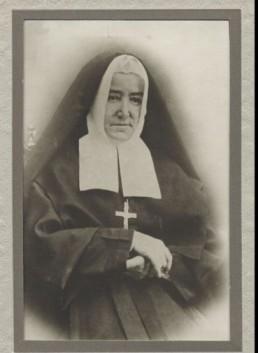 Marie Fitzback (Fitzbach), mère Marie du Sacré-Coeur (1806-1885) . Fondatrice des Sœurs du Bon-Pasteur. Fille de Charles Fitzbach, de la paroisse de Saint-Nicolas de Luxembourg, diocèse de Trèves, en Allemagne. Source BANQ