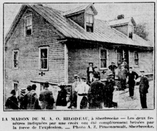 Voici la résidence où a eu lieu le drame. La Patrie, 18 juin 1913